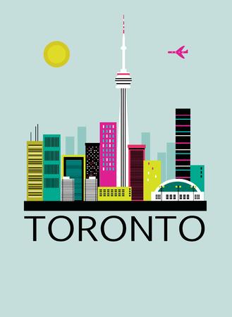 Toronto city.Canada. Vector