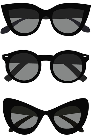 Collection of sunglasses icons. Vector