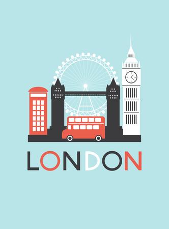 Man in London. Vector