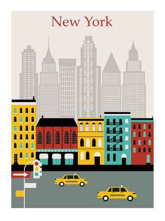 New York  cityscape illustration Zdjęcie Seryjne - 127645373