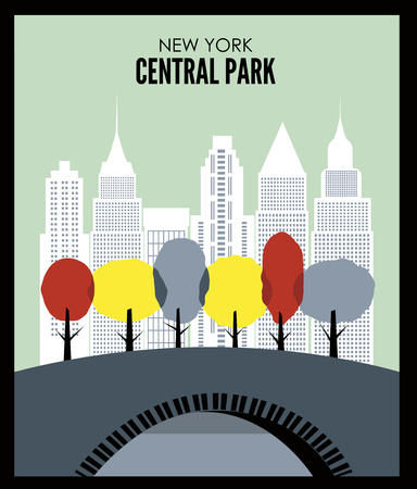 New York Central park. Vector