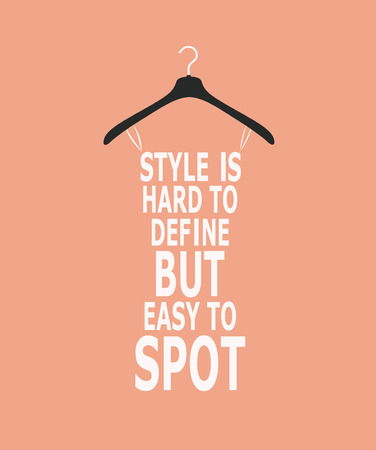Fashion woman stylized dress made from quote. Vector