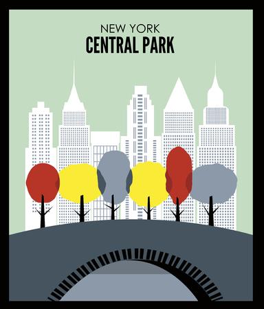 New York Central park. Vector
