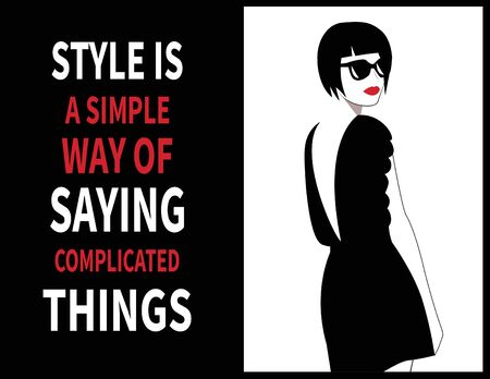 Fashion Woman with a quote about style.