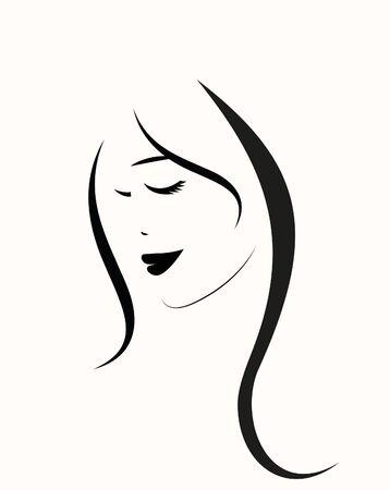 Giovane donna con capelli lunghi in cappello. Archivio Fotografico
