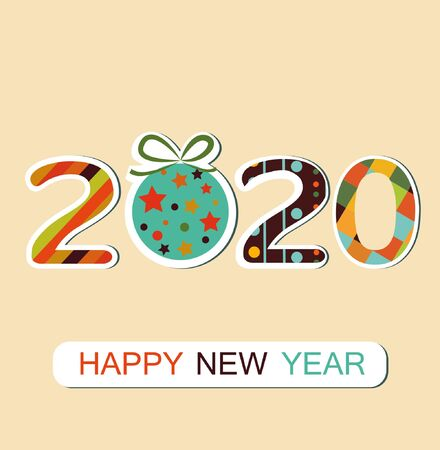 New Year 2020 background.
