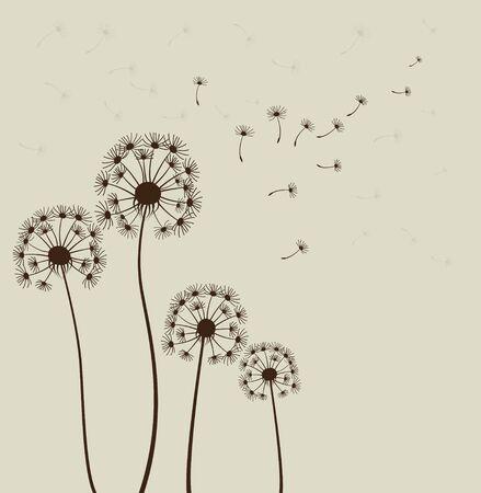 Stylized dandelion flowers