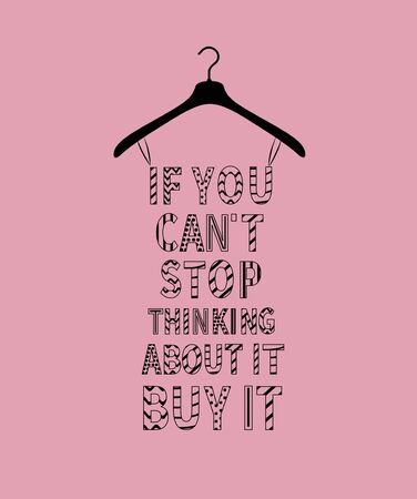 Female fashion dress from cartoon quotes Ilustracja