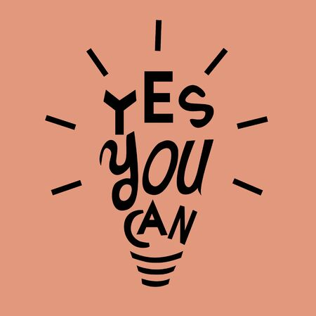 Motivation Quotation with light bulb. Vector illustration