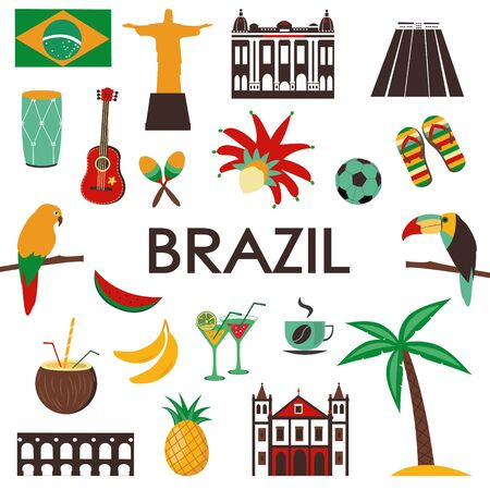 Symbols and icons of Brazil.