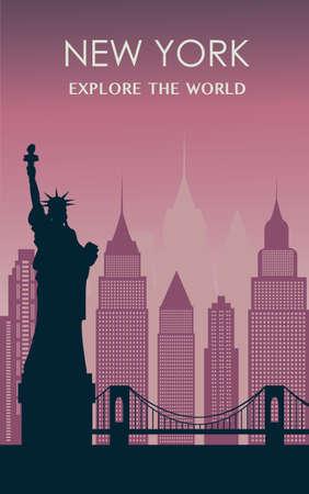New York city silhouette 일러스트