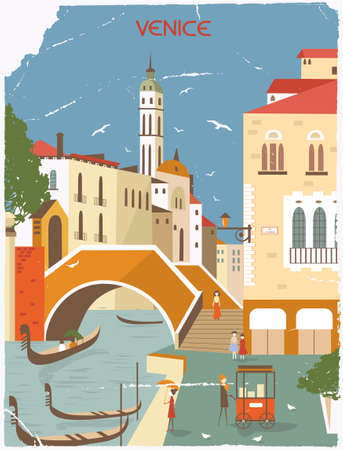 Venice Italy in old style