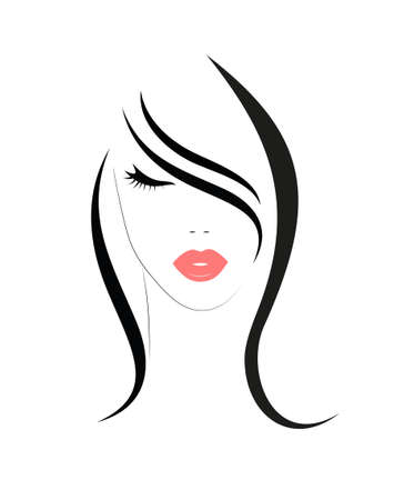 Logo of the woman with long hair Logo