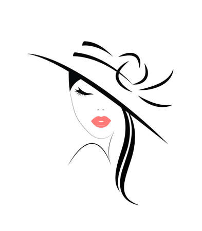 Logo of the woman in hat with long hair
