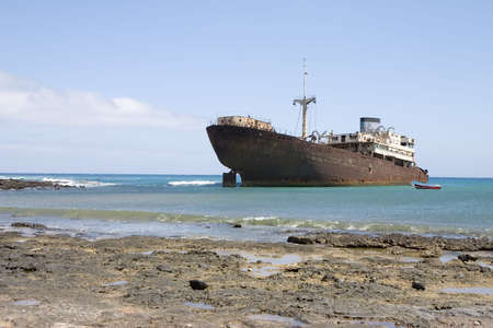 Wreck in Costa Teguise, Lanzarote, Canary Islands, Spain