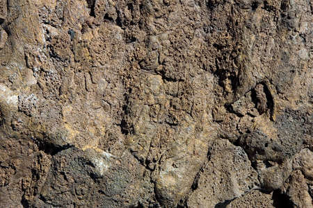 vulcanology: Close-up of a volcanic rock; rough texture Stock Photo