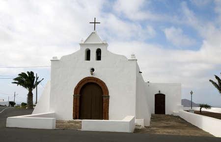 lanzarote: Nuestra Se�ora del Socorro church in Tiagua, Lanzarote, Canary Islands, Spain