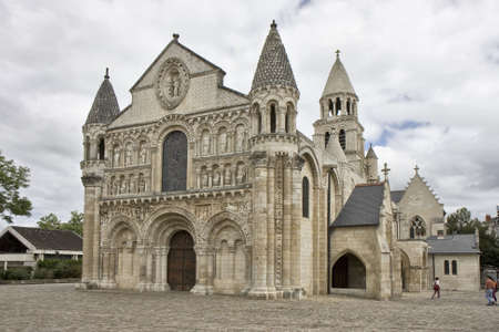 architectural architectonic: Notre Dame la Grande, Poitiers, France. Romanesque church, 11th and 12th centuries.