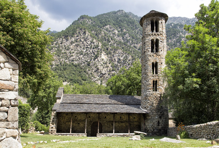 Pre-romanesque church of Santa Coloma at Andorra Principality Reklamní fotografie