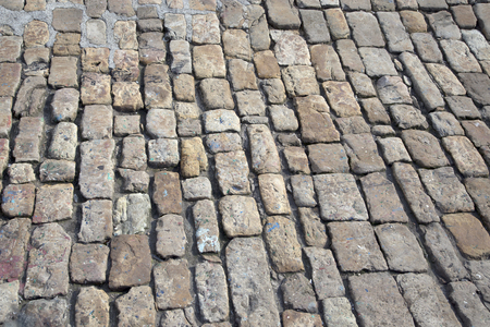 traditional cobble stone pavement