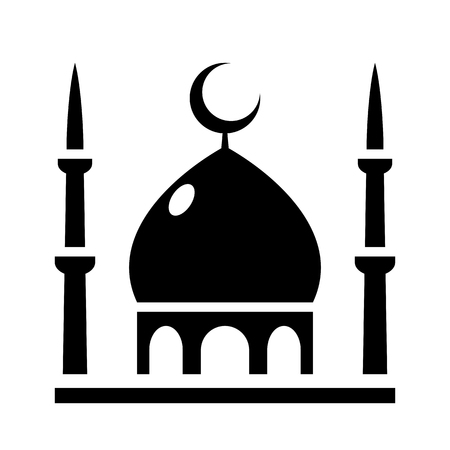 multiethnic: Mosque Icon, isolated vector illustration for web