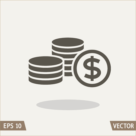 Money flat icon, dollar symbol. Vector illustration for web and commercial use.