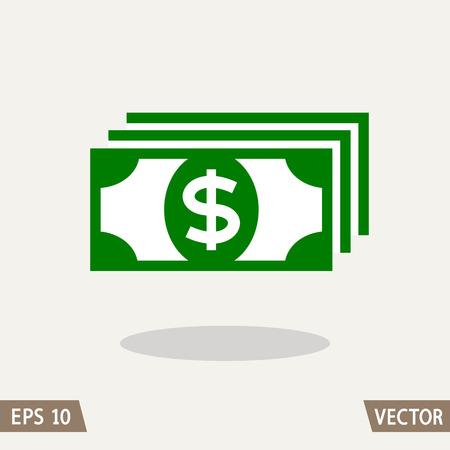 assignation: Money flat icon, dollar symbol.