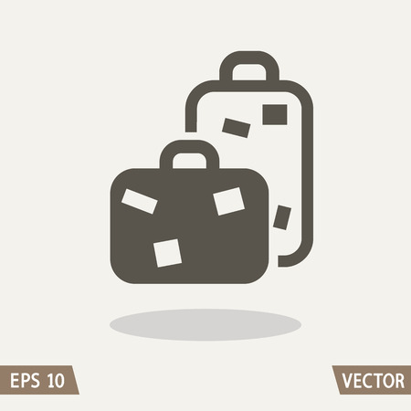 trolley case: Baggage icon, travel bags. Illustration