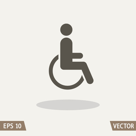 Disabled icon sign, man in wheelchair.