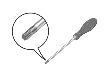 Tournevis Torx avec détail Vecteurs