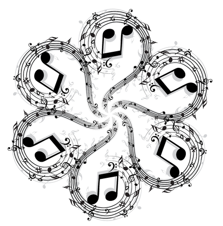 colorless: Music Note Illustration
