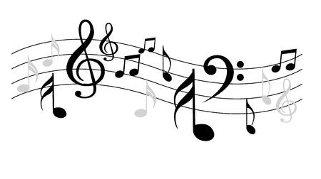 Notas de Música  Ilustración de vector