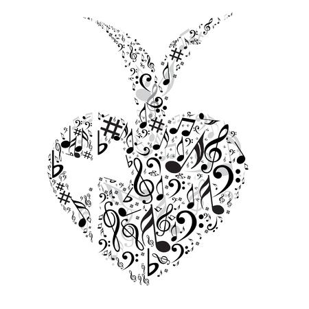 red sound: Heart symbol Illustration