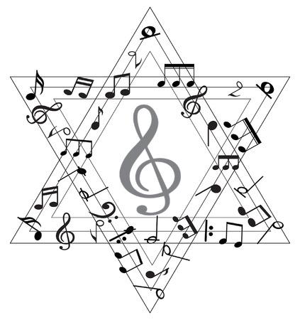 Nota musical Ilustración de vector