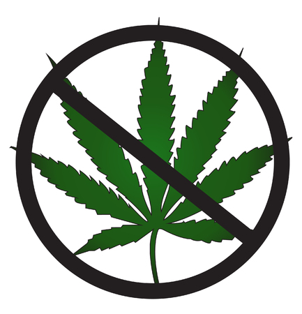 No cannabis Illustration