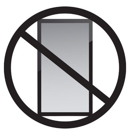 携帯電話がありません。  イラスト・ベクター素材
