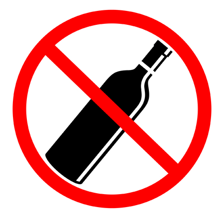 No drink sign in white background