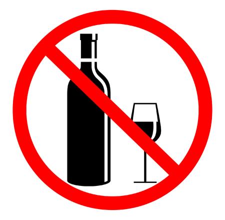 Aucun signe de boisson en fond blanc