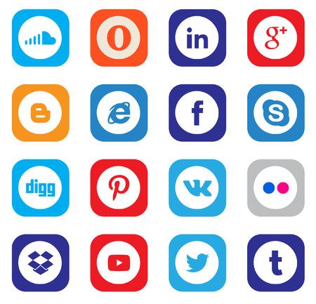 Social Media Icons Editorial