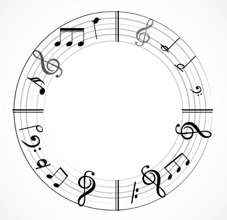 Music note background.
