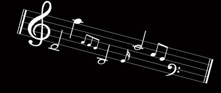 Music note background with music symbol icon collection Vettoriali