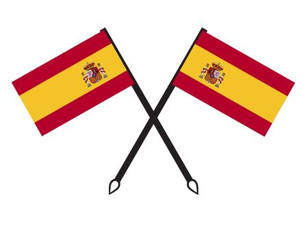 Spain flag icon Illustration