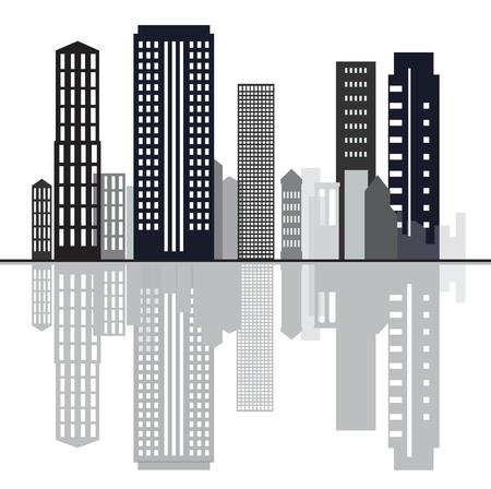 Creative sky line background Illustration