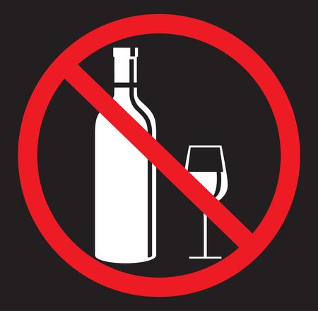 No alcohol drinking flat icon