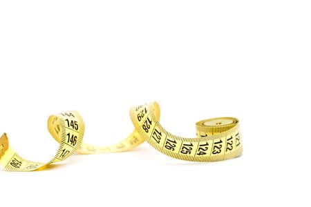 tape om het lichaamsvolume te meten Stockfoto