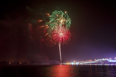 Fireworks Sarasin Bridge photo