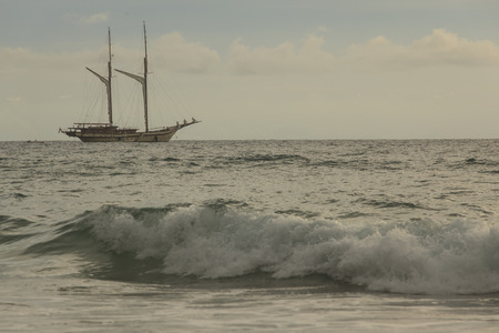 cote d'azure: Marine boat Stock Photo
