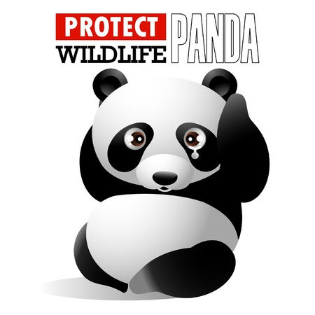baby cartoon: Protect Wildlife - Panda