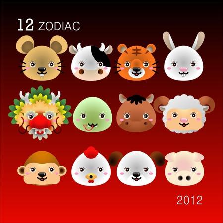 12 Zodiac Vector