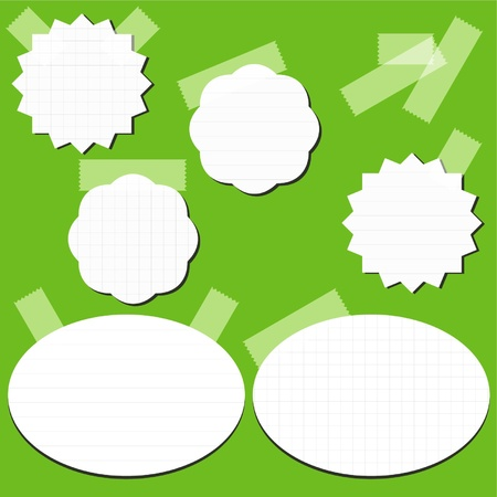 Set of paper stickers with tape Stock Vector - 14925954
